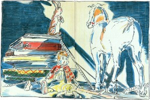 Illustration from _The Velveteen Rabbit_ by Margery Williams