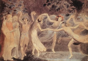 William_Blake_-_Oberon,_Titania_and_Puck_with_Fairies_Dancing