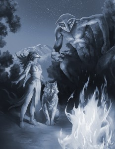 CofD Dark Eras, Neolithic Mage full page painting by Brian LeBlanc.